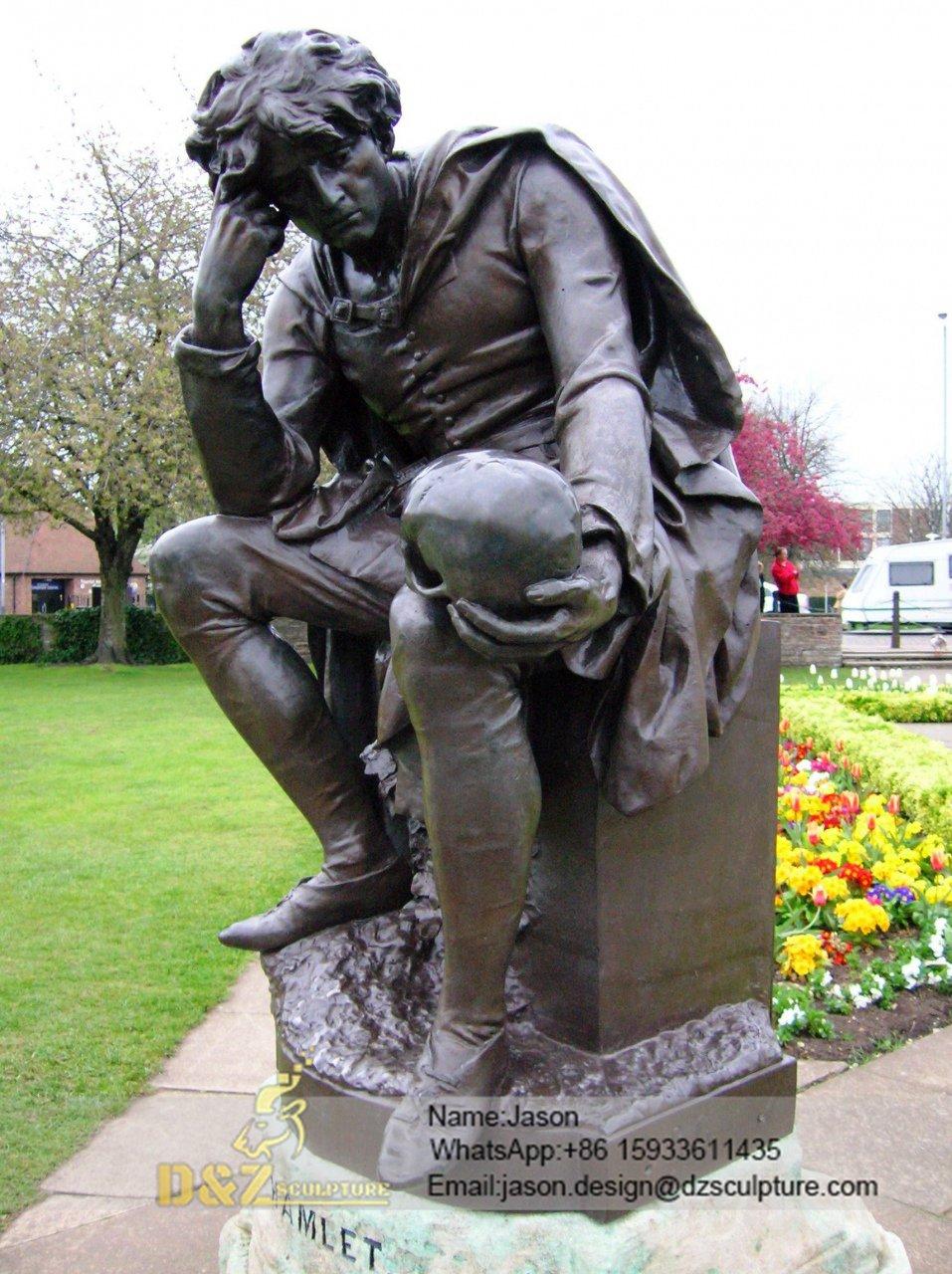 garden Shakespeare thinking sculpture