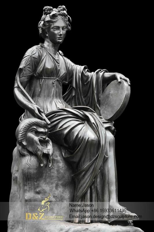 beautiful Thalia Roman sculpture