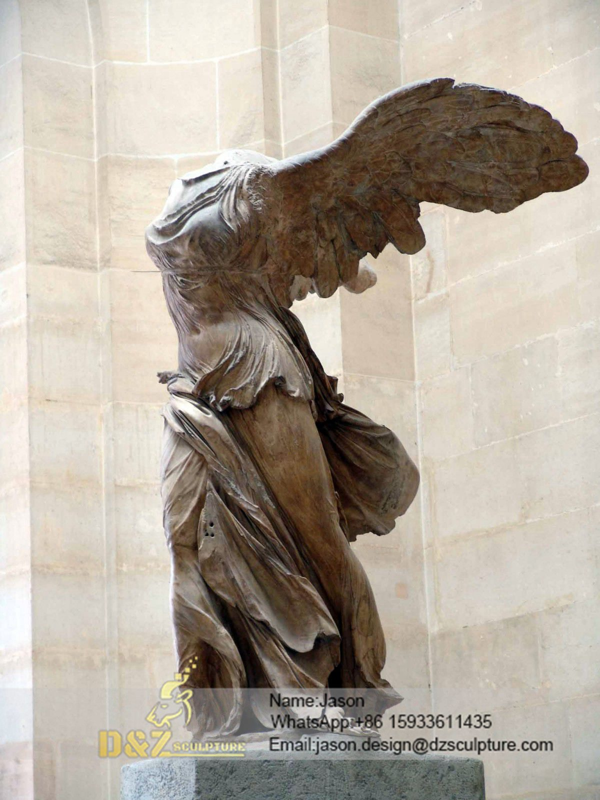 abstract Winged Victory statue
