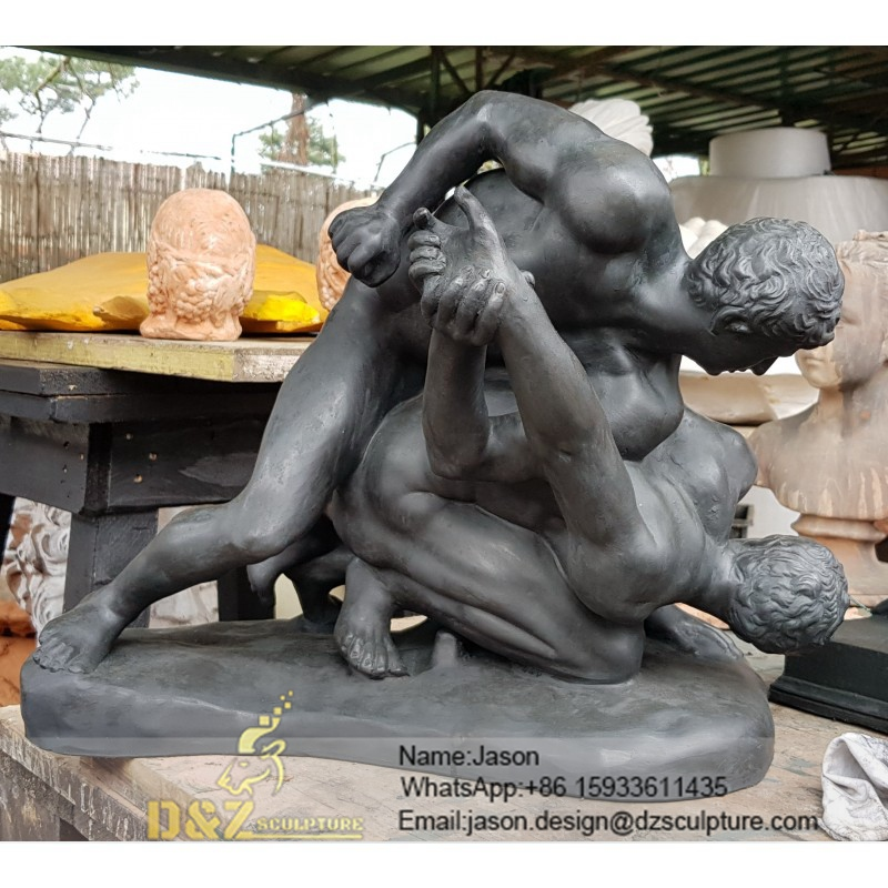 outdoor wrestlers greek statue