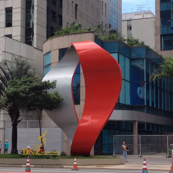 city stainless steel sculpture