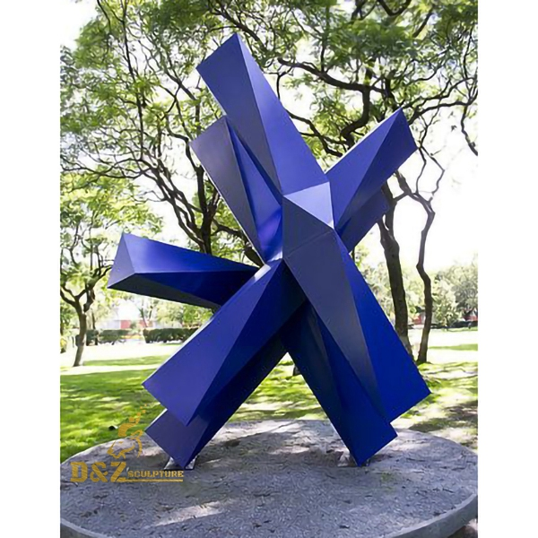 colorful stainless steel sculpture