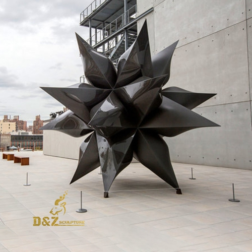 modern black star sculpture