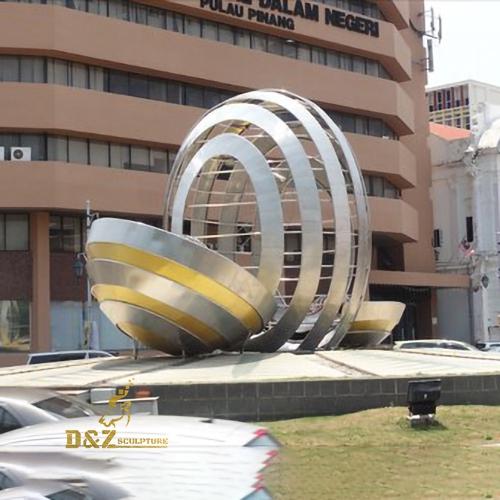 irregular hollow ball sculpture