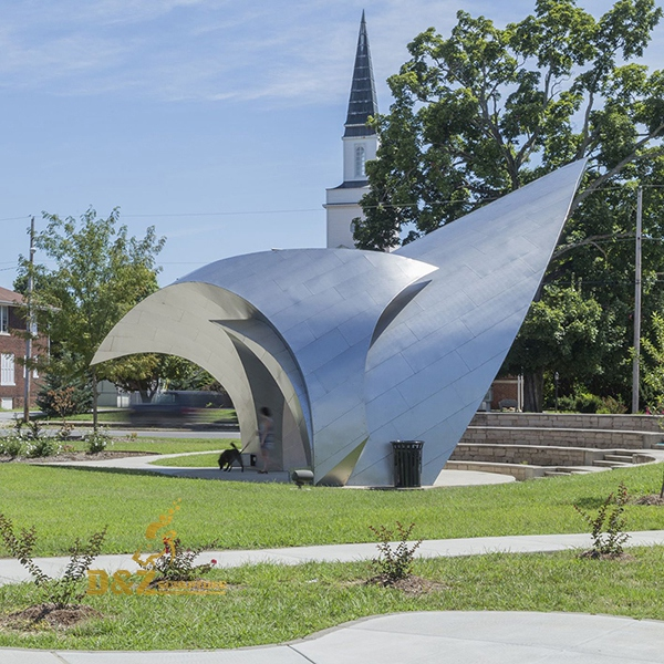 Public sun visor sculpture