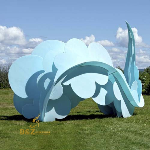 colorful abstract cloud sculpture