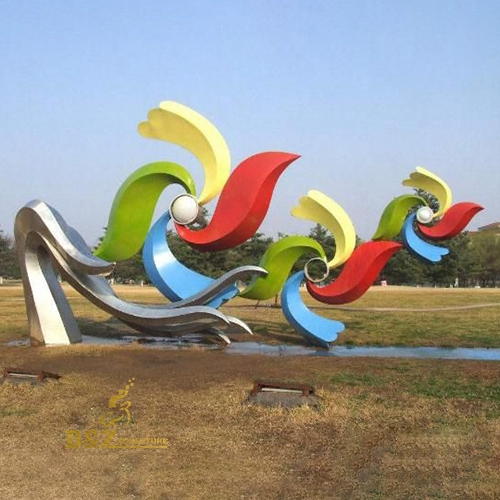 colorful sculpture stainless steel