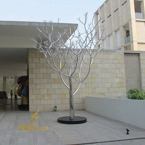 tree sculpture stainless steel