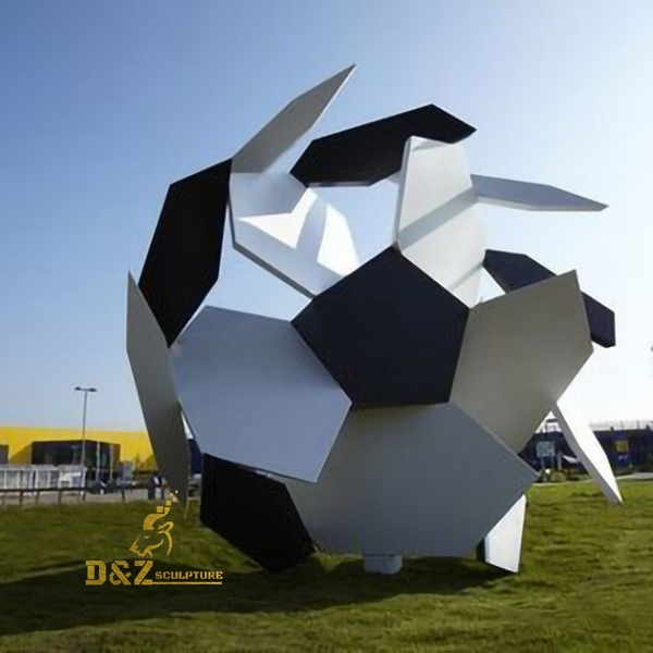 abstract football art sculpture