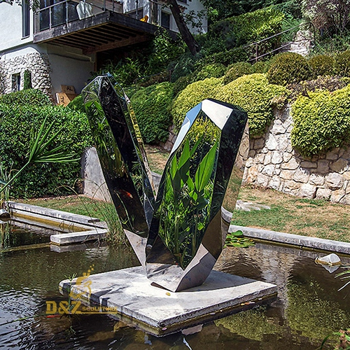 big city mirror sculpture