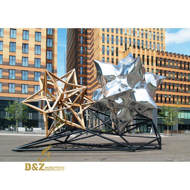 polygonal stainless steel sculpture