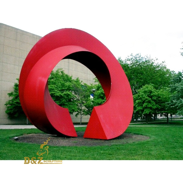 garden red loop sculpture