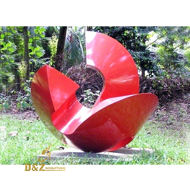 curved modern outdoor sculpture