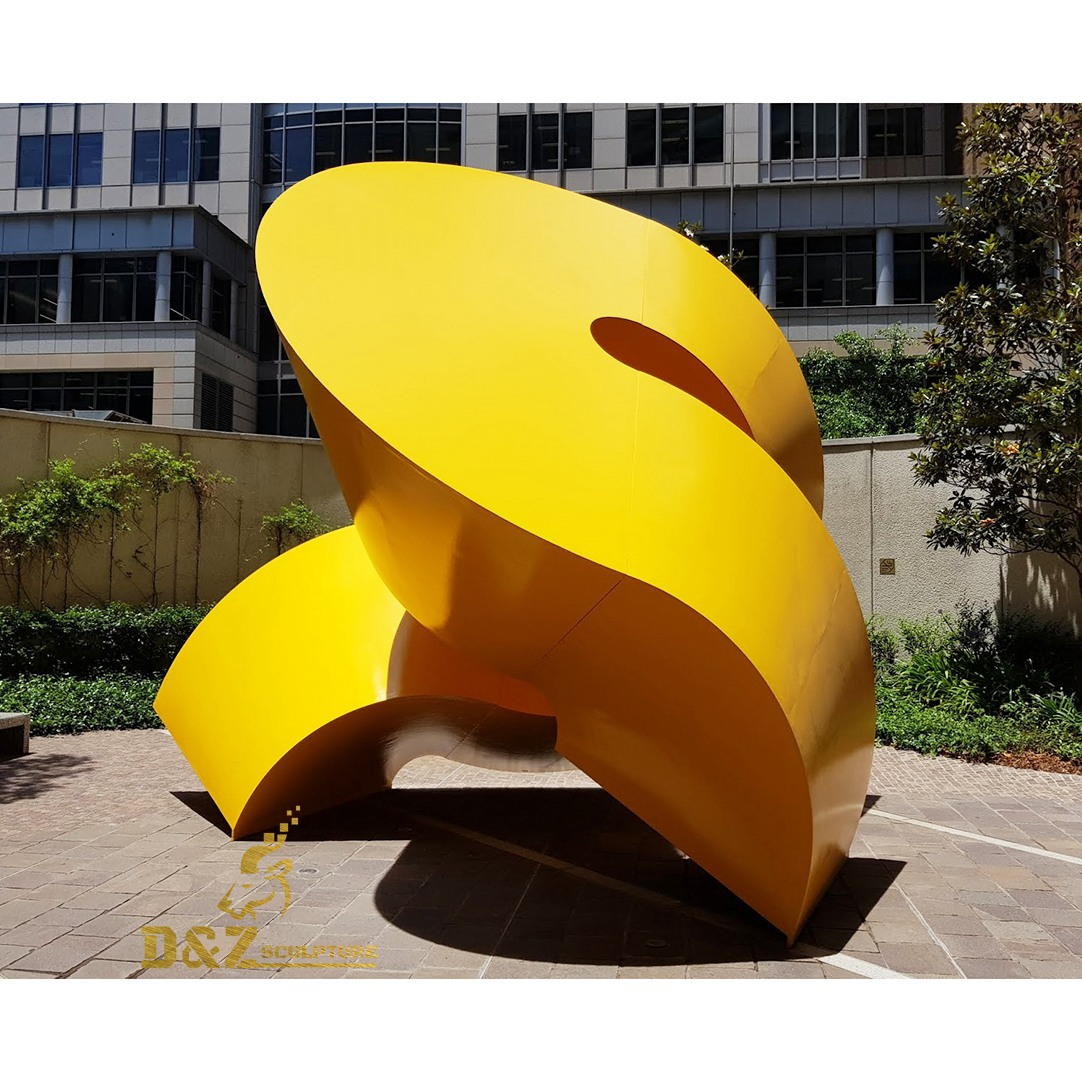 contemporary yellow abstract sculpture