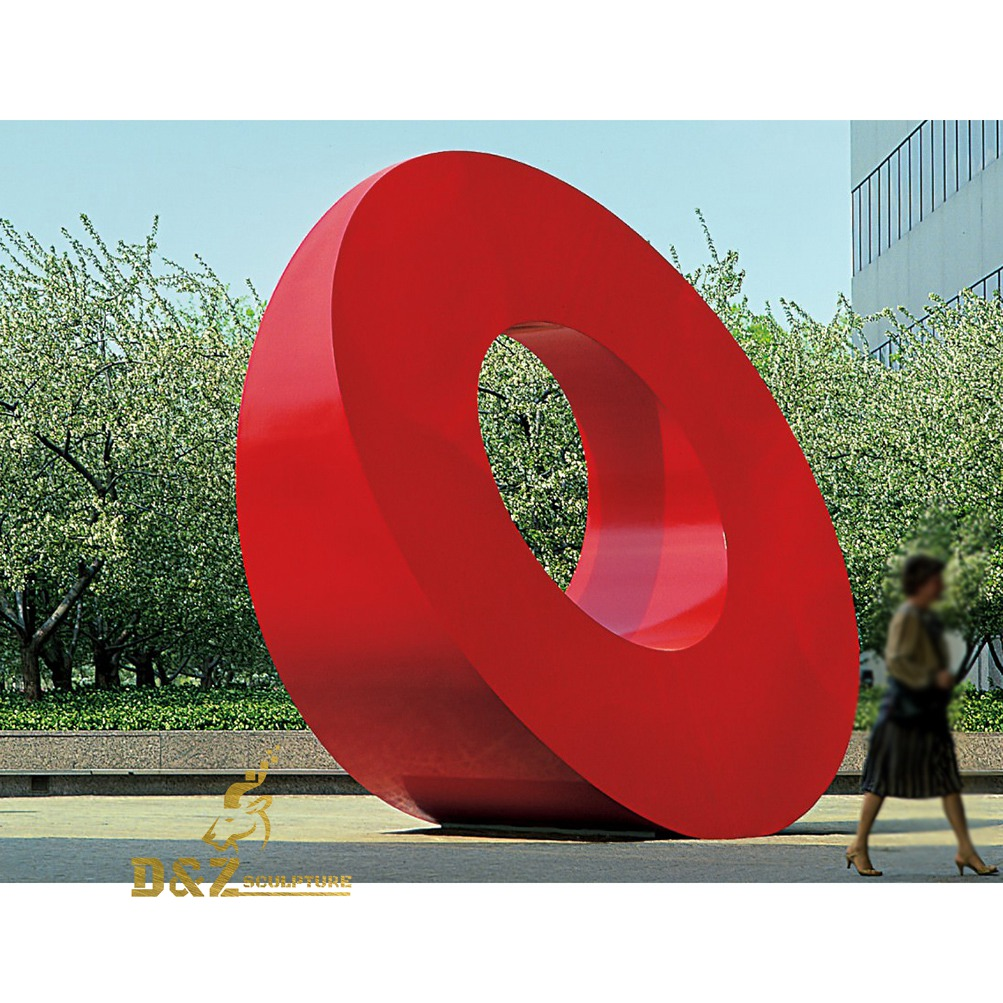 city red ring sculpture