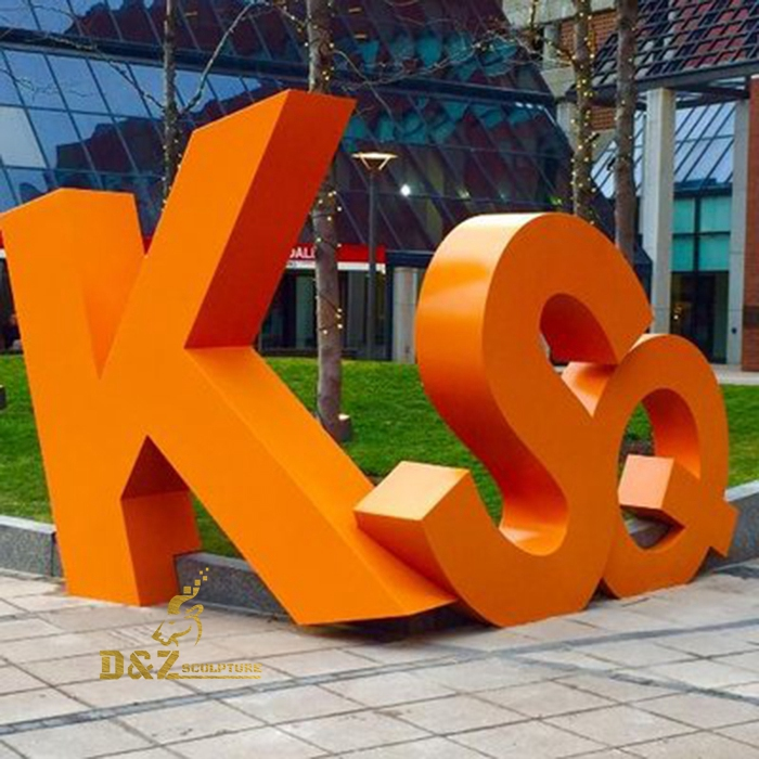 custom KSQ letters sculpture