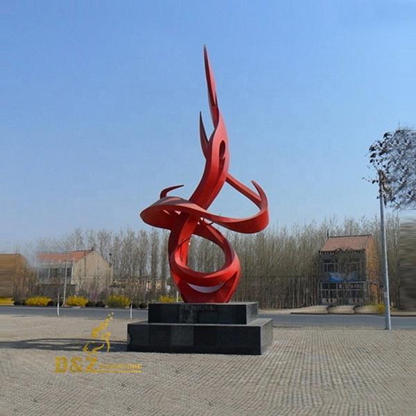 Public Large Flame Art