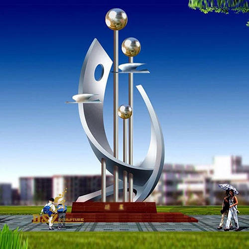 Stainless steel city sculptures