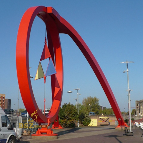 sculpture outdoor red stainless
