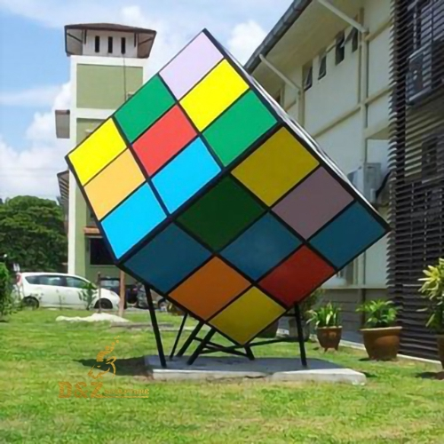 Rubik's cube sculpture outdoor