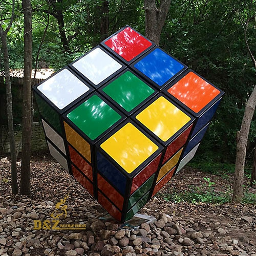 Rubik cube sculpture outdoor