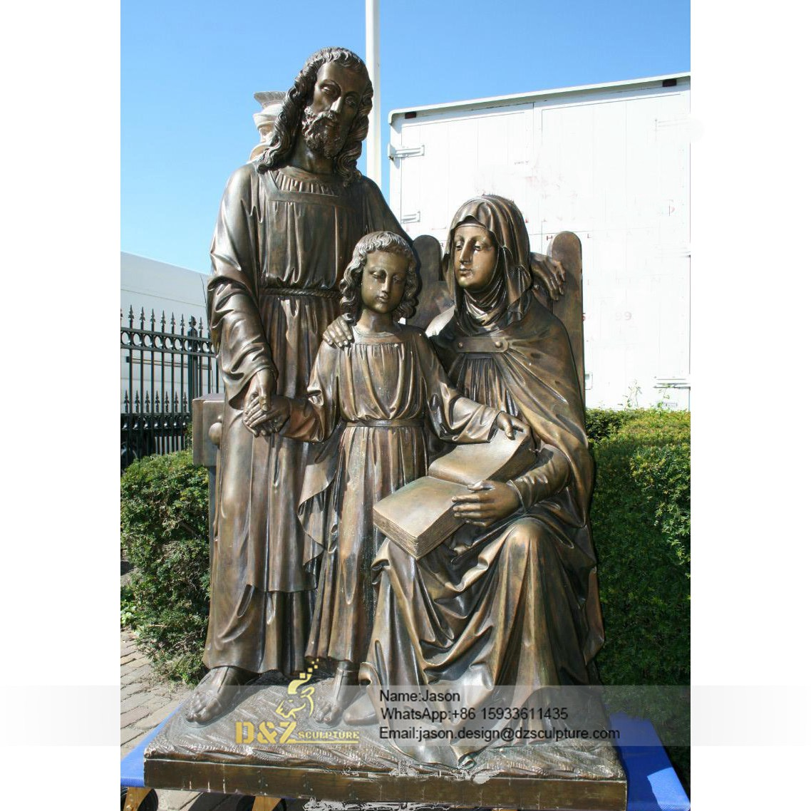 Sitting and lovely Holy Family