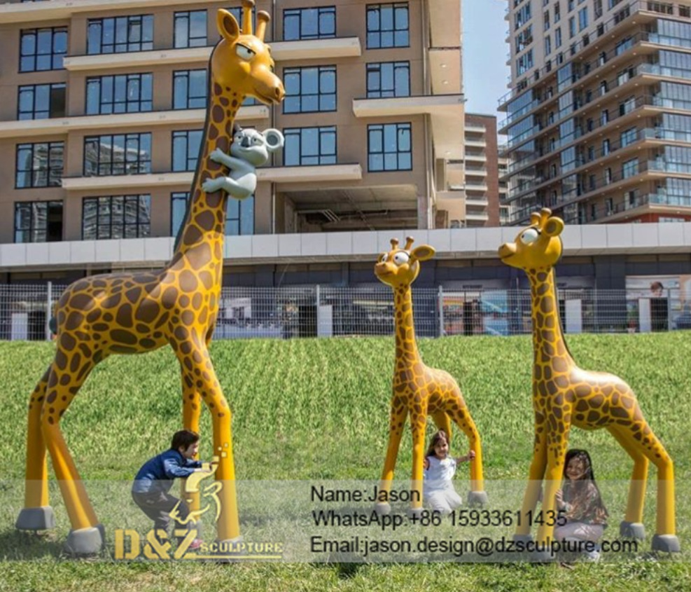 Cartoon giraffe sculpture
