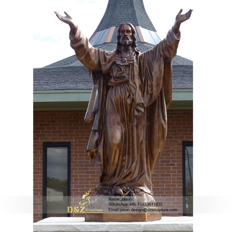 Take up hands jesus statue