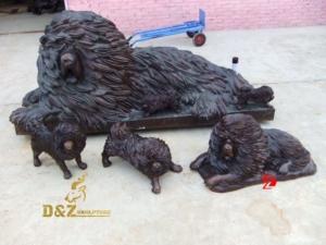 Tibetan mastiff statue large