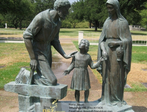 Warm heart  Holy Family sculpture