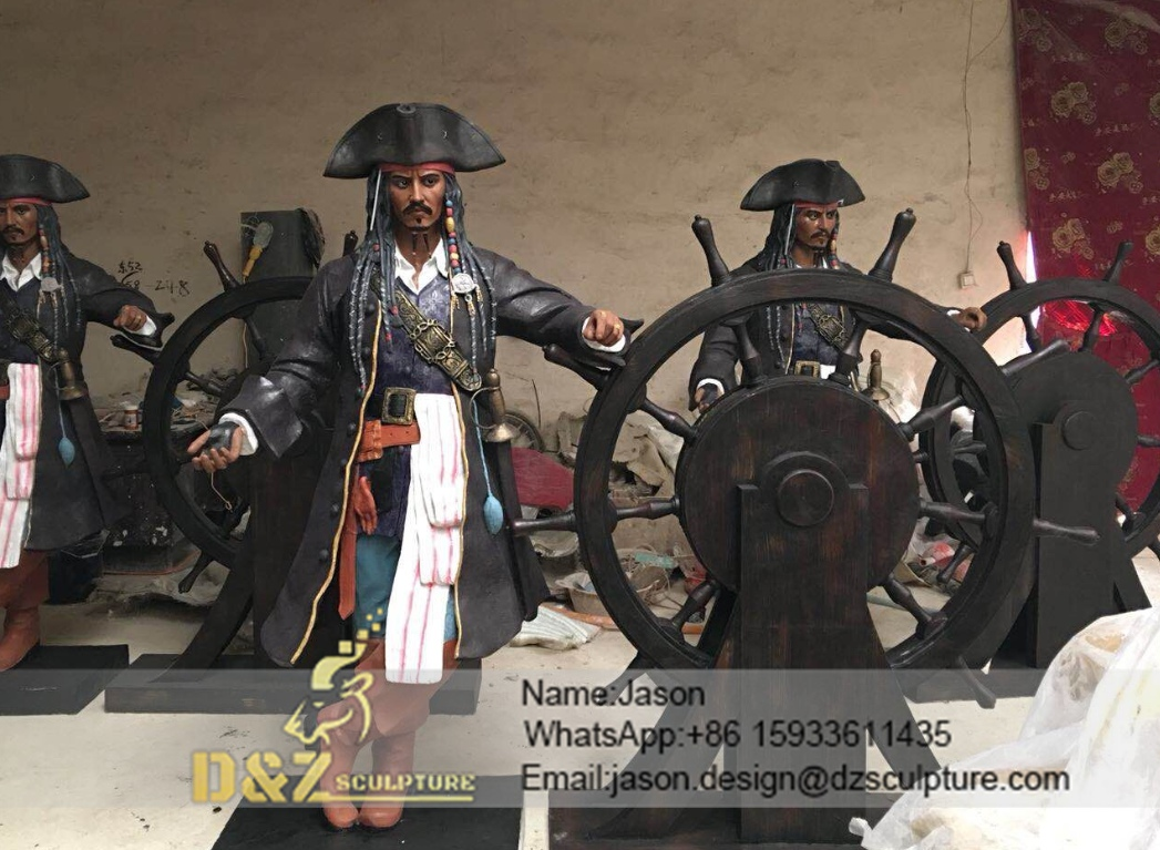 Pirate cartoon sculpture
