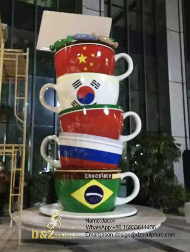 Outdoor cup sculpture