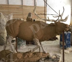 clay mold animal of elk