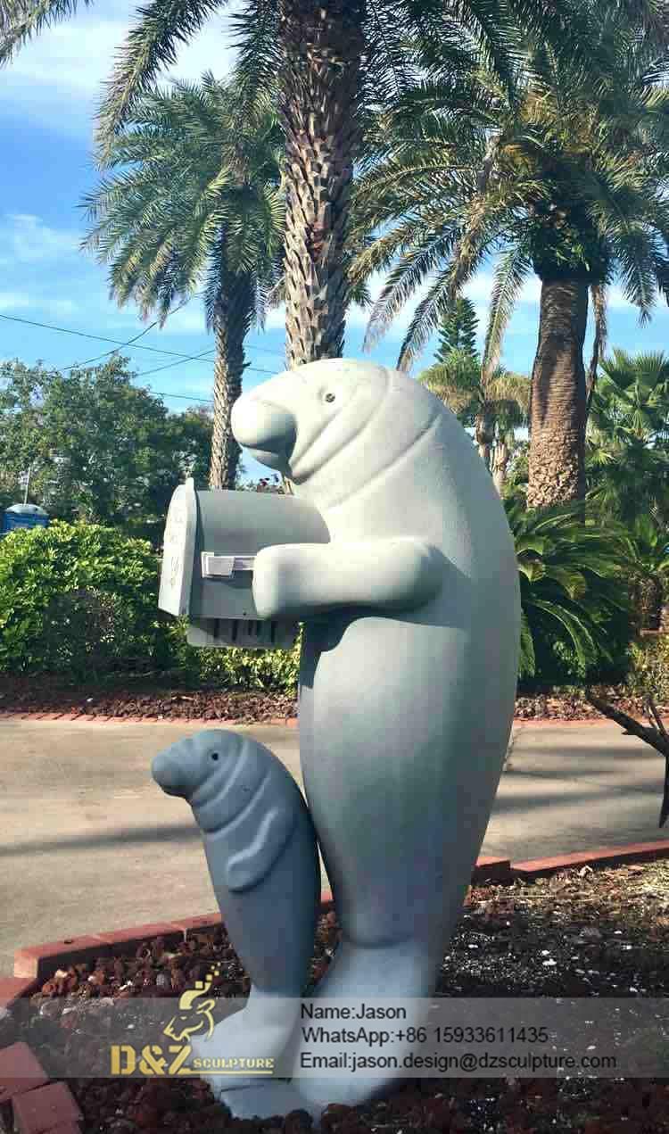 Garden seal sculpture