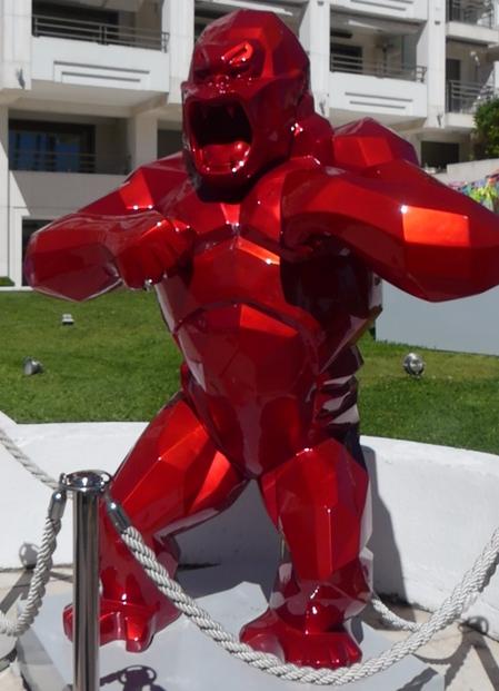 Red Monster Sculpture