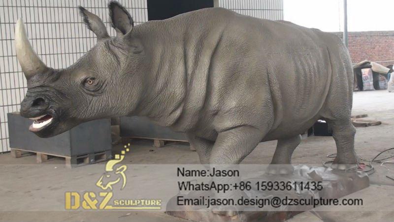 Big rhinoceros sculpture