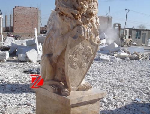Egypt  marble lion sculpture