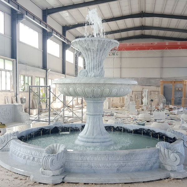 White Marble statue Fountain