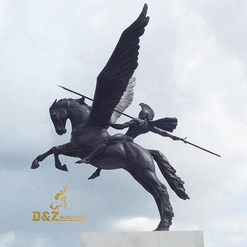 Horse soldiers bronze sculpture