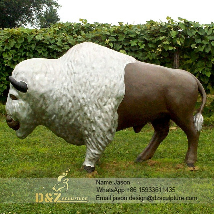 Outdoor sculpture of a bull
