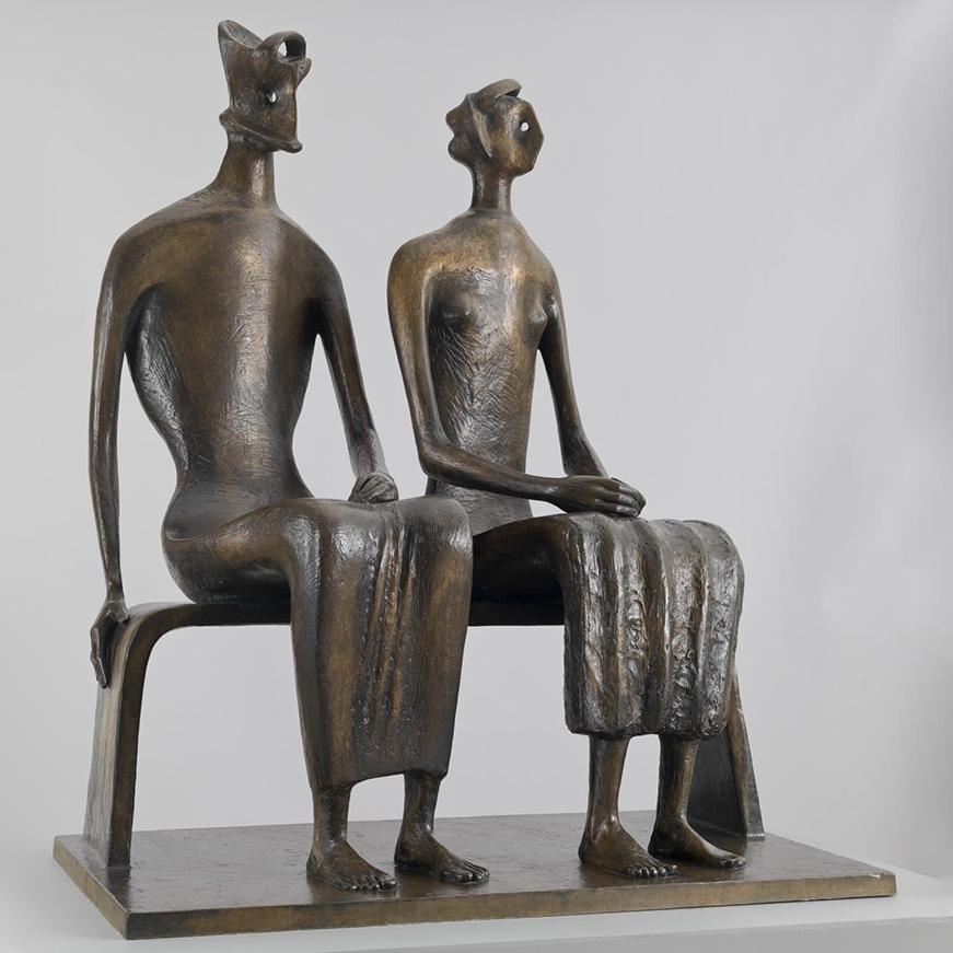 Abstract figure sculpture