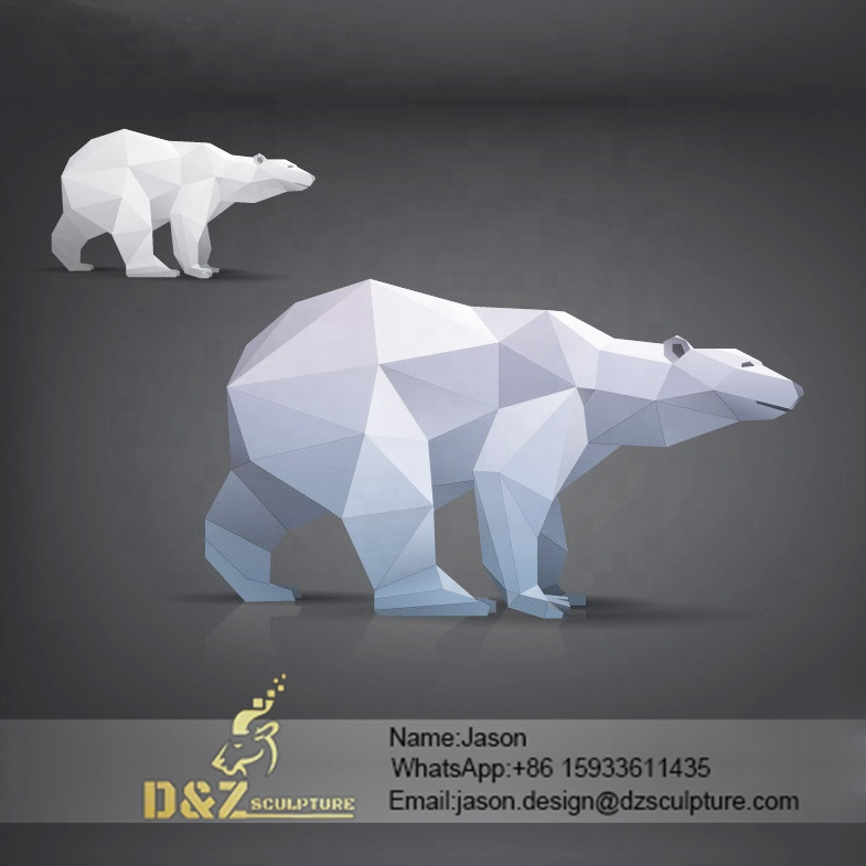 White bear sculpture