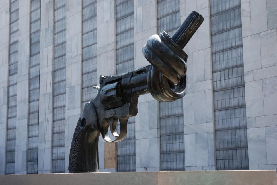 Outdoor Pistol sculpture