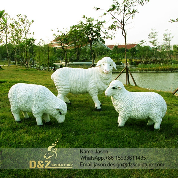 White sheep sculpture