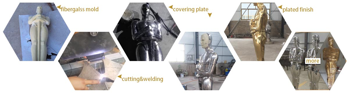 stainless steel figure statue