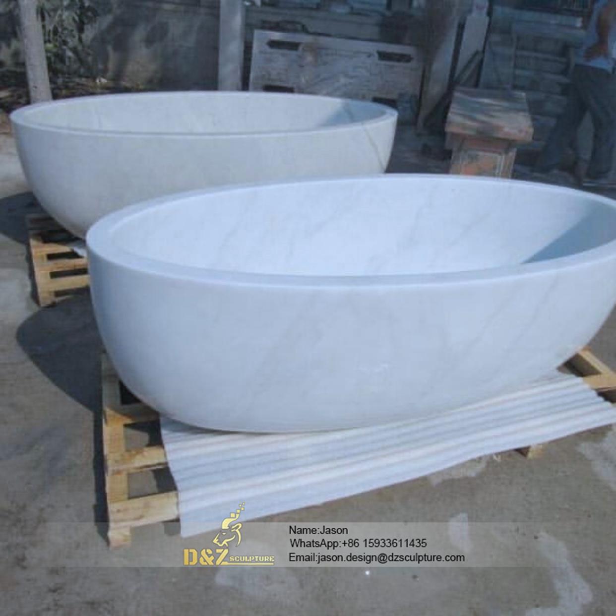 Circular bathtub stone