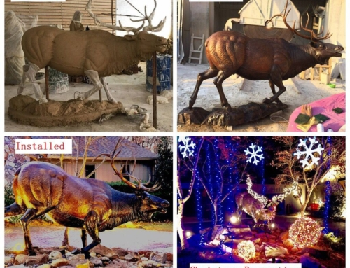 Animal of elk statue