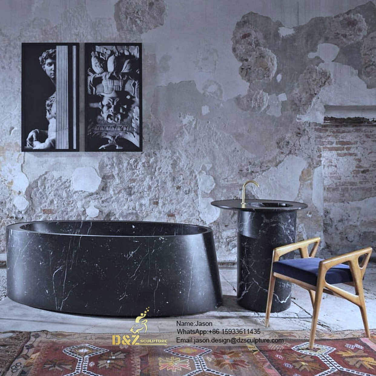 Italian stone bathtub