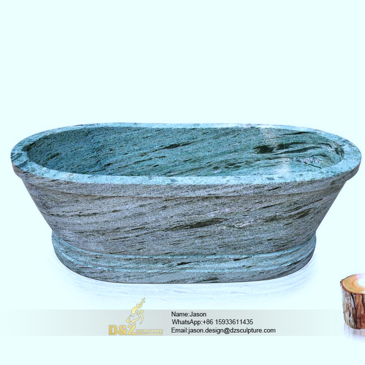 Jade stone bathtub
