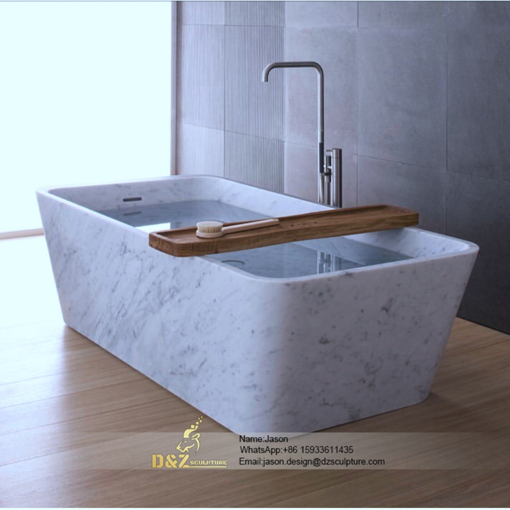 Large stone bathtub
